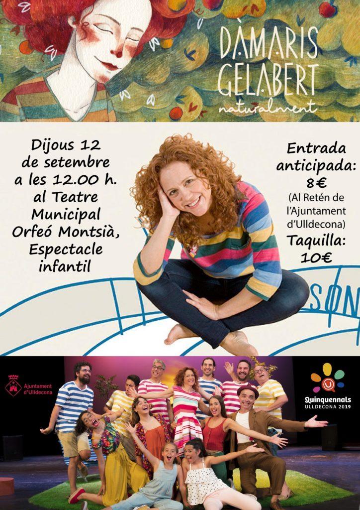Concert de Damaris Gelabert dijous dia 12 de setembre durant les Festes Quinquennals d'Ulldecona