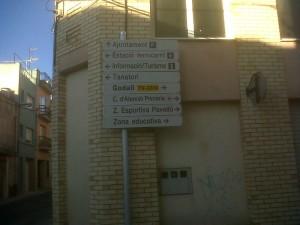 Senyal carrer Barcelona